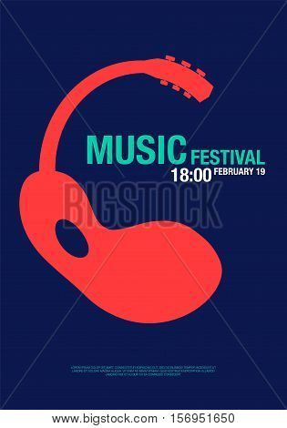 Music abstract modern poster concert design elements used for poster background backdrop billboard brochure handbill leaflet invitation card vector illustration