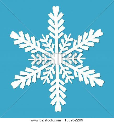 Snowflake. Snowflake icon flat style. Snowflake design elements. Vector illustration
