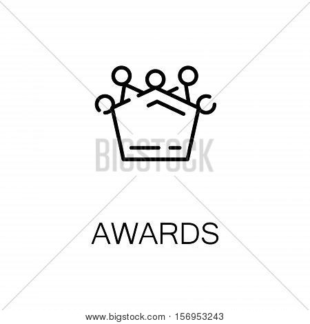 Award flat icon. Single high quality outline symbol of medal or other award for web design or mobile app. Thin line signs of award for design logo, visit card, etc. Outline pictogram of award
