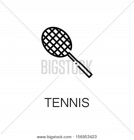 Tennis flat icon. Single high quality outline symbol of sport for web design or mobile app. Thin line signs of tennis for design logo, visit card, etc. Outline pictogram of tennis
