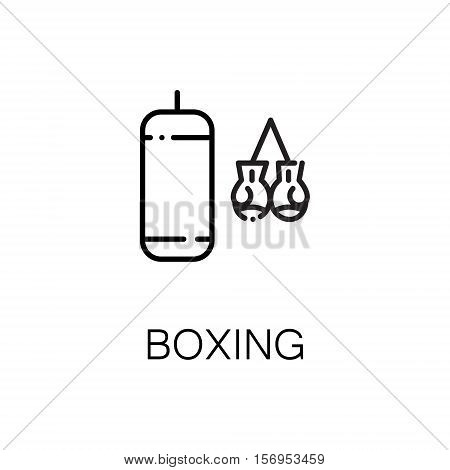 Boxing flat icon. Single high quality outline symbol of sport for web design or mobile app. Thin line signs of boxing for design logo, visit card, etc. Outline pictogram of boxing