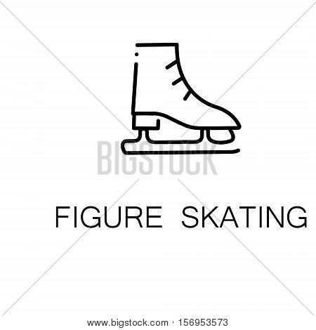 Figure skating flat icon. Single high quality outline symbol of sport for web design or mobile app. Thin line signs of figure skating for design logo, visit card, etc. Outline pictogram of figure skating