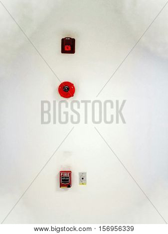 Fire Alarm ring and fire alarm switch.