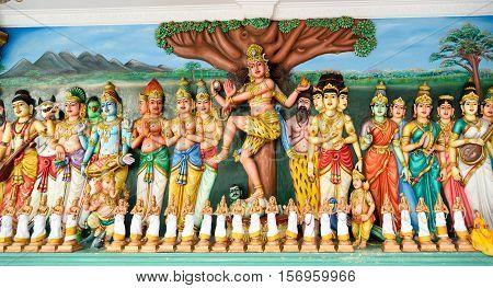 Traditional Statues In Sri Mahamariamman Hindu Temple