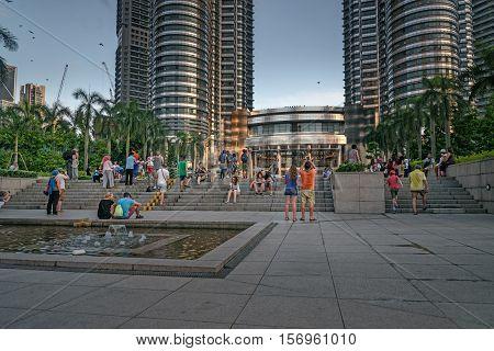 People Near Petronas Towers