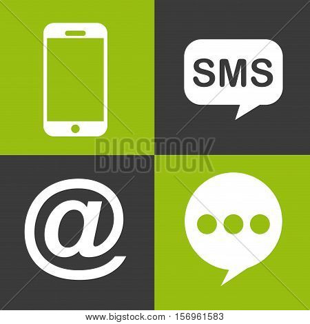 social media icons inside colorful squares. vector illustration