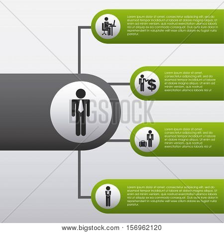 colorful business infographic template presentation. vector illustration