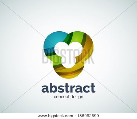 Vector abstruse shape logo template, abstract business icon