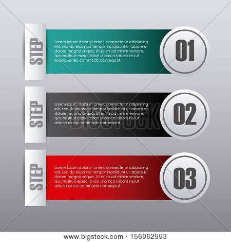 colorful infographic template presentation with numbers. vector illustration