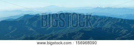 Mountain range in Doi Luang Chiang Dao, Thailand.