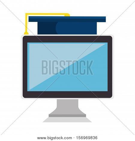 education online elearning icon vector illustration design