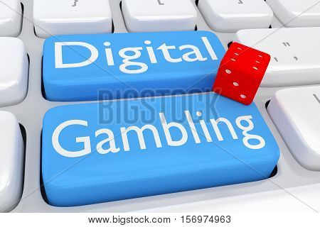 Digital Gambling Concept