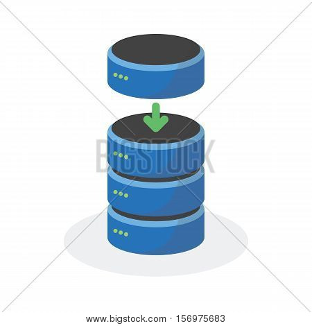 Data Storage Icon With Add Base Storage, Esp10