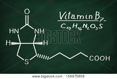 Structural Model Of Vitamin B6 (biotin)