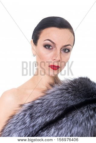Portrait Of A Woman In A Fur Coat.