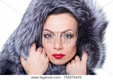 A Woman In A Fur Coat.