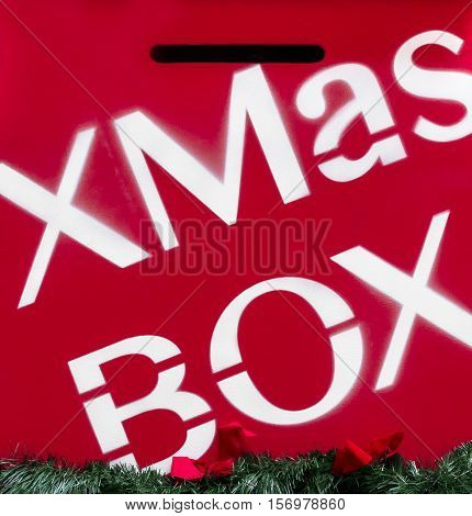 Xmas mailbox for children used for send their Christmas letters to Santa.