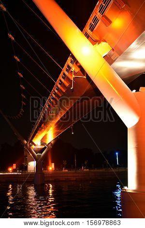 Bridge at the  new Dubai Canal, U.A.E