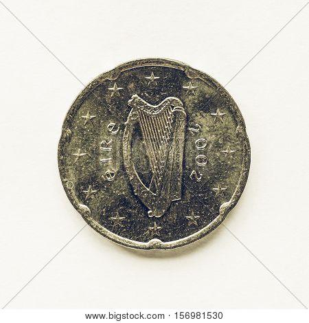 Vintage Irish 20 Cent Coin