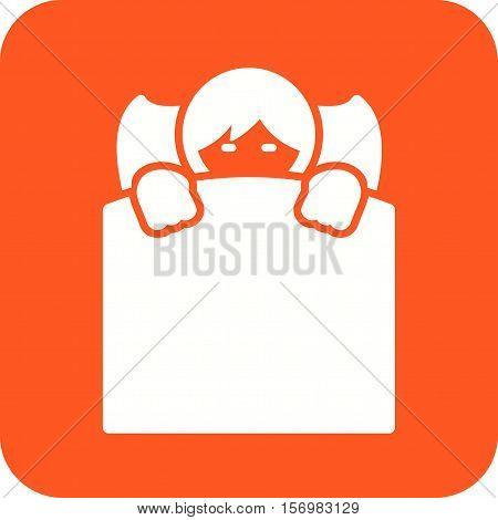 Sleeping, boy, bed icon vector image. Can also be used for kids. Suitable for use on web apps, mobile apps and print media.