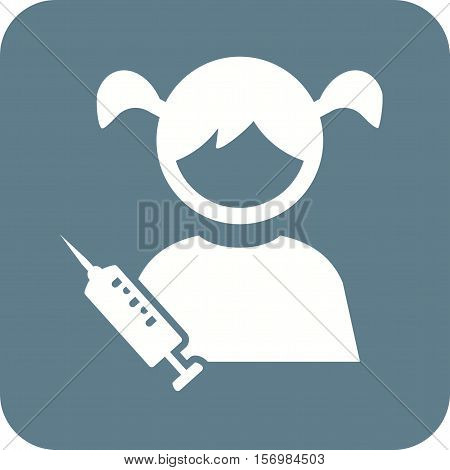 Kids, medical, injection icon vector image. Can also be used for kids. Suitable for web apps, mobile apps and print media.