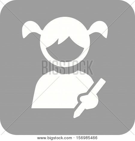 Drawing, kids, child icon vector image. Can also be used for kids. Suitable for web apps, mobile apps and print media.