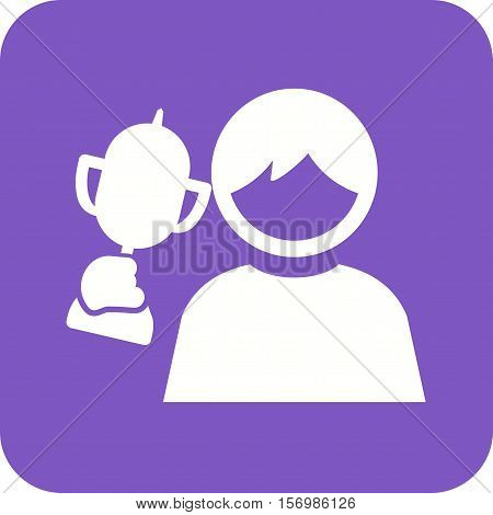 Kids, award, happy icon vector image. Can also be used for kids. Suitable for web apps, mobile apps and print media.
