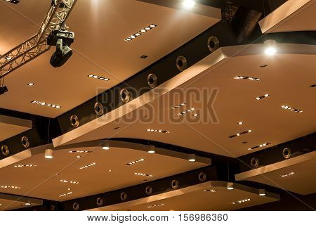 Modern Dropped Ceiling With Lights