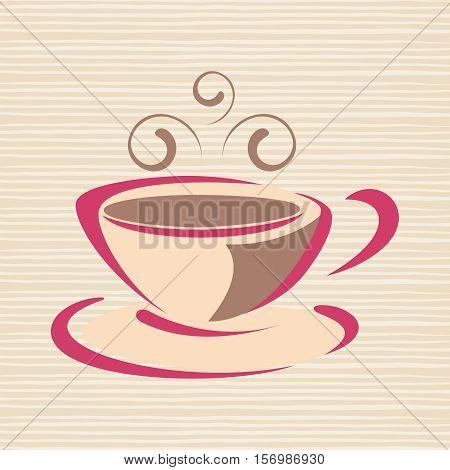 Cup of hot drink. Coffee, tea etc