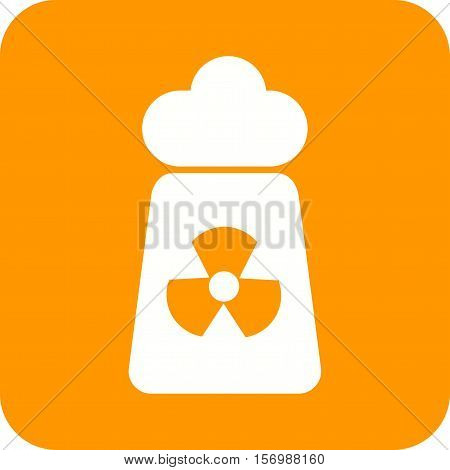 Radiation, nuclear, danger icon vector image. Can also be used for warning caution. Suitable for use on web apps, mobile apps and print media.