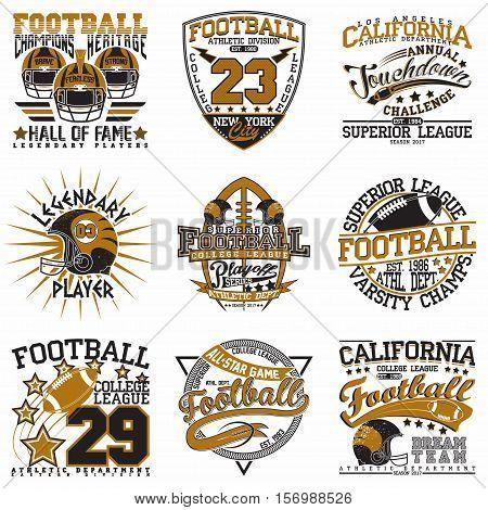 Set of Grunge Sport t-shirt graphic designs,  Vintage Sport print stamps, Sports wear typography emblems, Creative design, Vector