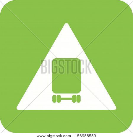 Dangerous, vehicle, risk icon vector image. Can also be used for warning caution. Suitable for use on web apps, mobile apps and print media.