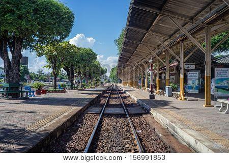 Nakhon Lampang, Thailand - November, 13, 2016 : Nakhon Lampang Railway Station in Nakhon Lampang, Thailand.