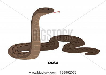 Snake with brown skin and long tongue sticking out