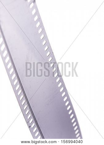 35 mm black and white sound negative film strip isolated on white background