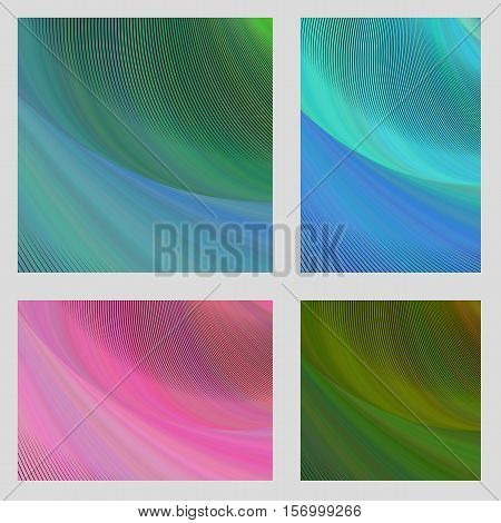 Computer generated abstract psychedelic brochure background set