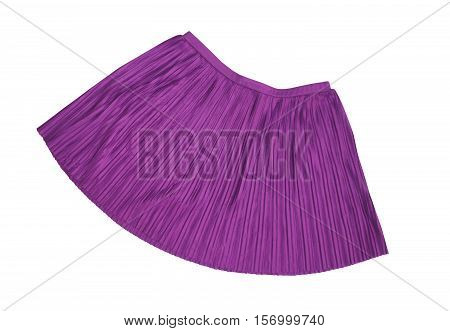 Pleated skirt purple color on a white background