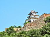 Marugame Castle, also known as Kameyama Castle is a Japanese castle in Marugame, Kagawa Prefecture, Japan. This castle is a hilltop castle and one of only 12 Japanese castles with the original keep. poster