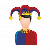 harlequin character icon image vector illustration design poster