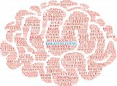 Breastfeeding Brain word cloud on a white background. poster