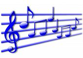 Your shiny musical note background with drop shadows is ready. poster