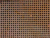 Rusty grid texture: little grating with squares poster