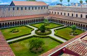 overhead view of the courtyard Cathedral of Monreale. Sicily Italy poster