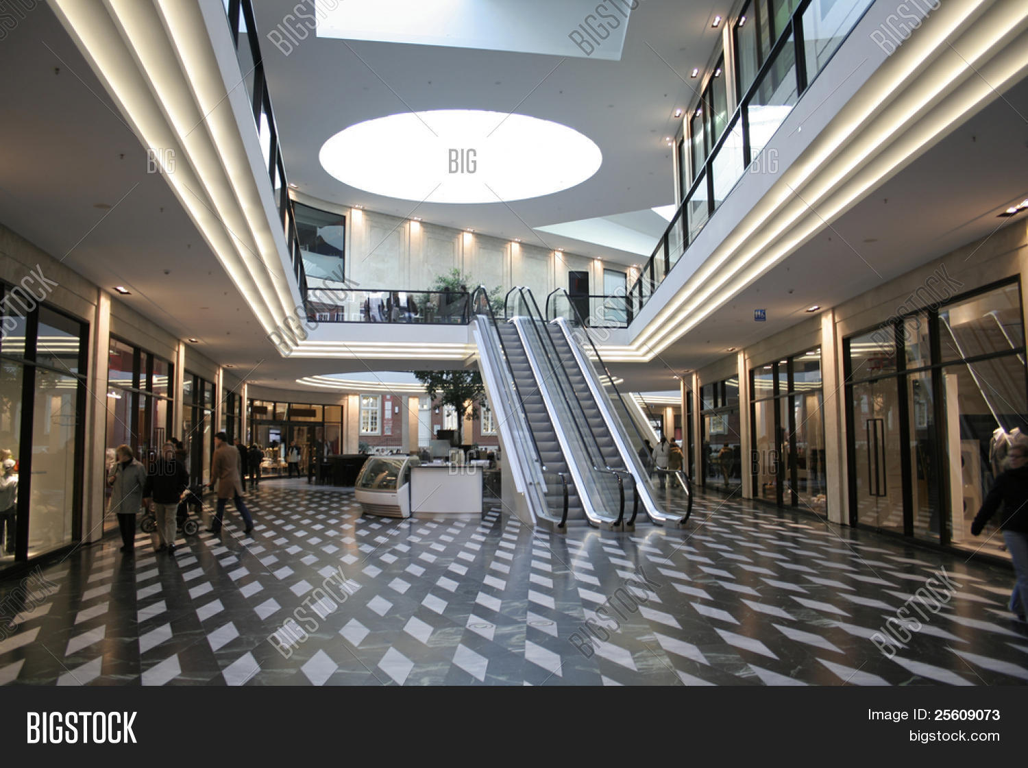 Shopping Mall Escalators Image Amp Photo Bigstock