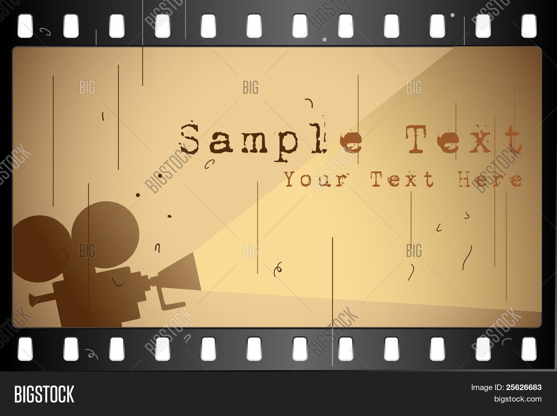 Illustration film strip frame on vector photo bigstock illustration of film strip frame on abstract background jeuxipadfo Image collections