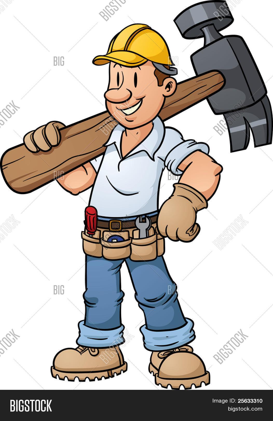 Vector y foto Trabajador De La Construcción De   Bigstock