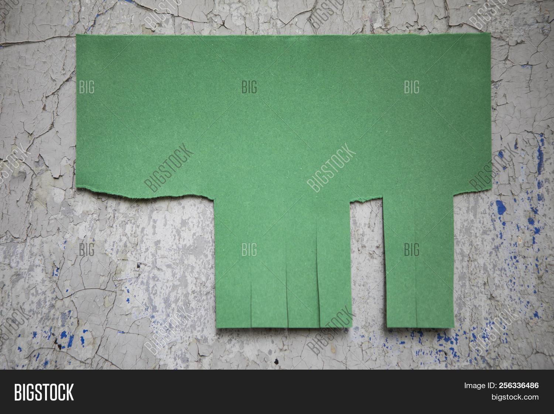 blank green paper tear image photo free trial bigstock