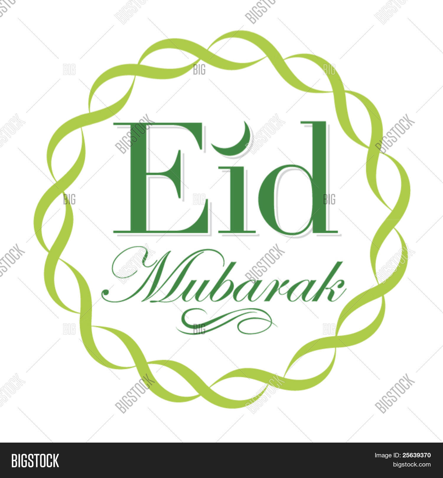 Eid Greetings English Vector Photo Free Trial Bigstock