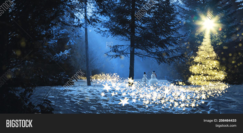 Magic Christmas Scene Image Photo Free Trial Bigstock