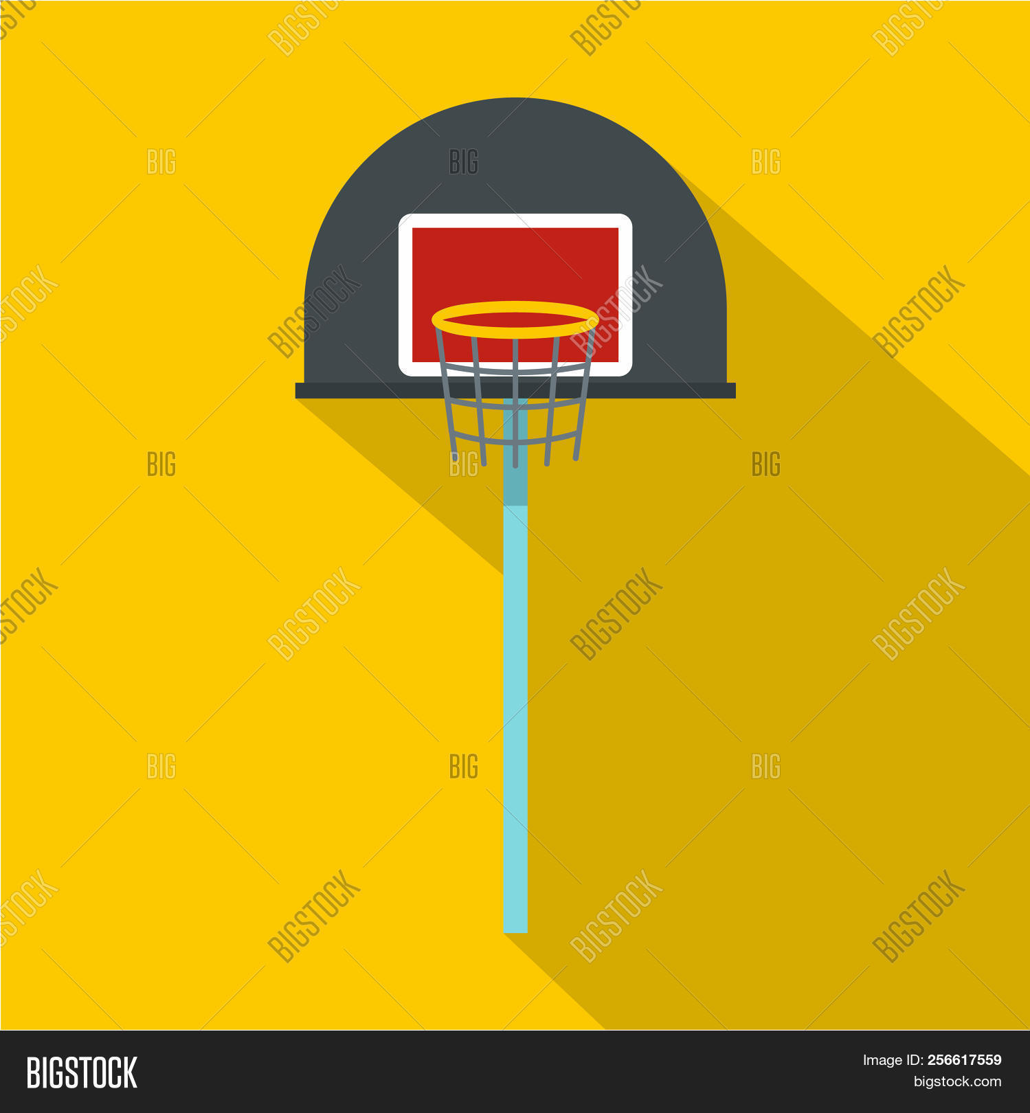 Basketball Hoop Icon Image Photo Free Trial Bigstock Diagram Flat Illustration Of For Web Isolated On Yellow Backgroun